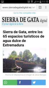 Article Sierra de Gata Digital with AMP