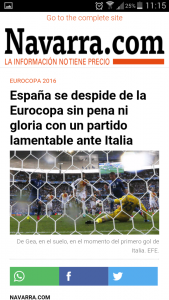 Article Navarra with AMP